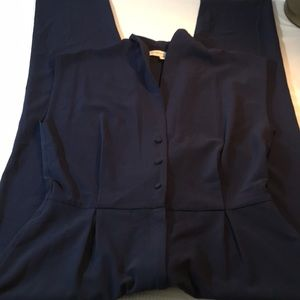 Cupcakes and Cashmere Navy One Piece Pants Suit 8